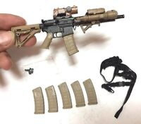 """1/6 Scale Very Hot toys US PMC M4 Rifle with scope desert for 12"""" figure"""
