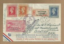 "1946 NETHERLANDS ""Rocket Mail"" Cover w/Space Travel Stamp/Postmark"