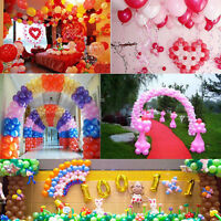 "100PCS Latex Balloons Birthday Wedding Party Decor Decoration 10"" 9Color U Pick"