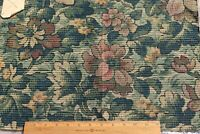 """French Antique c1910-1920s Cotton Floral Tapestry Fabric Sample~L-14"""" X W-21"""""""
