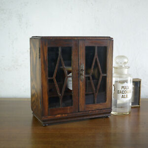 Antique Vintage Victorian Table Top Wall Cabinet Apothecary Cupboard Bathroom