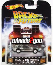 BACK TO THE FUTURE TIME MACHINE - 2016 Hot Wheels Retro Entertainment REAL RIDER