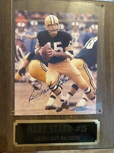 Green Bay Packers Bart Starr Hand Signed Autograph 8x10 Photograph Memorabilia