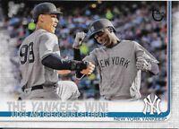 2019 Topps Series 1 Vintage Stock #14 Aaron Judge/Gregorius Yankees Win 81/99