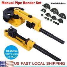 10 25mm Heavy Duty Steel Manual Pipe Tube Bender Handheld Tube Bending Tool Set