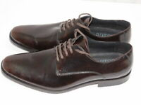 Mens DKNY Brown Leather formal dress shoes size 8.5 M NWOB