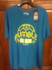 Adidas Ultimate Tee T Rumble In Rio Brazil Blue 2014 World Cup Men's XL NWT New