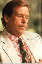 Vaclav Havel (+) PRESIDENT OF CZECHOSLOVAKIA autograph, signed photo