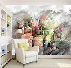 3D Schloss Malerei Fototapeten Wandbild Fototapete Bild Tapete Familie Kinder