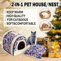 Pet House Dog Bed With Print Mat Foldable Cat Dog Bed Pad Nest For Small Medium