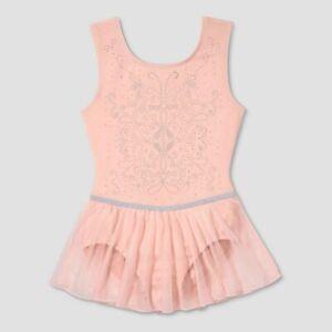 Dance Leotard XS Child Pink Ballet Tap Jazz Sparkle Cotton Freestyle