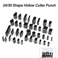 24 39pcs/set  Hole Hollow Cutter Punch Handmade Leather Craft DIY Tool for Phone