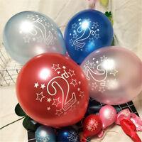10pcs Latex Balloons Baby 2 Years Old Birthday Party Decoration NTA_ex