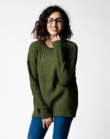 New ex ASOS Olive Ultimate Chunky Rib Contrast Jumper RRP £25 Sizes 4 - 18