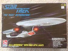 NEW 1995 Star Trek The Next Generation USS Enterprise with Fiber Optic Lights.