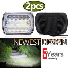 2x 5x7 7x6 LED Headlight 5D 105W for Jeep Wrangler YJ Cherokee XJ MJ Truck Dot