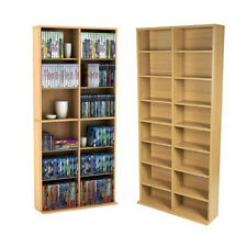 Dvd Storage Rack Organizer Wall Cabinet Cd Vhs Blu-Ray Media Large Tower Shelf