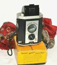 New 1950's Kodak Brownie Reflex 127 Film Camera Flash Synchro  Model WORKS Boxed