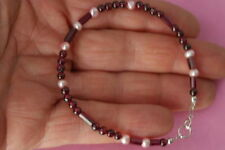 Silver Beaded Fine Gemstone Bracelets
