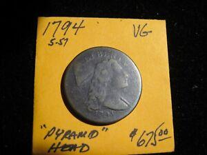 1794 LIBERTY CAP LARGE CENT VERY GOOD