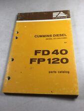 Fiat Allis- Cummins Diesel KT-1150-C480 Parts Catalog For Fiat FD40 & FP120
