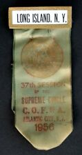 LONG ISLAND NY / COMPANIONS OF THE FOREST Vintage SUPREME CIRCLE Ribbon COF of A