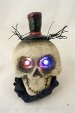 Rare VHTF Yankee Candle Boney Bunch Incredible Mr. Bones Light Up Skull Top Hat