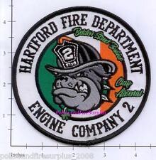 Connecticut - Hartford Engine 2 CT Fire Dept Patch  Irish Flag