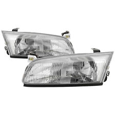 Fit 97-99 Toyota Camry Headlights Replacement Chrome Housing Left + Right Pair