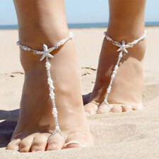 1PC Barefoot Sandals Beach Wedding Foot Jewelry Beaded Pearl Starfish Anklet