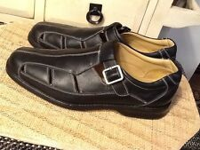 234957830f8 Men s Shoes Size 10.5 M Black Leather sheep skin Sandals Johnston   Murphy