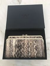 ANYA HINDMARCH BI-FOLD MULTI-COMPARTMENT SNAKE CLUTCH WALLET NEW IN BOX