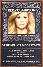 Kelly Clarkson Greatest Hits Ltd Ed Discontinued Rare Poster +Free Pop Poster!