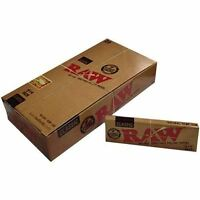 6 Packs x RAW Unrefined Classic 1.25 1 1/4 Size Cigarette Rolling Papers