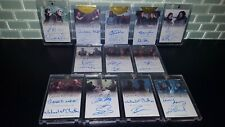 14-17 GAME OF THRONES Tyrion Jaime Lannister Jon Snow FULL DUAL AUTOGRAPH SET !!