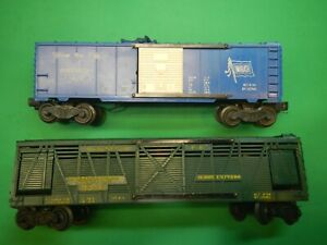 LIONEL 3356 OPERATING HORSE AND 3424 WABASH  CAR