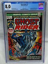 GHOST RIDER #1 MARVEL COMICS 1973 FRESH GRADE CGC 8.0