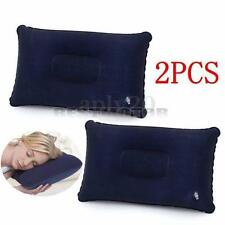 2 Travel Camping Inflatable Pillow Comfortable Cushion Protect Dark Blue Soft