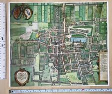 Antique Map The Hague, Netherlands: 1617 Braun & Hogenberg REPRINT 1600s Tudor