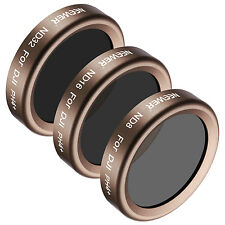 Neewer Gold HD 3pcs Lens Filter Kit ND8 ND16 ND32 for DJI Phantom 4 Pro
