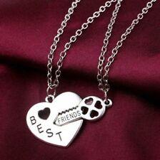 Wunderschöne Freundschaft   Halskette  mit Silber  Anhänger  Modeschmuck 2Stück