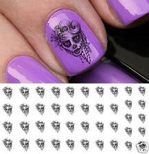 Sugar Skull Lady Nail Art Waterslide Decals - Salon Quality!