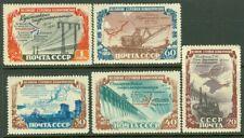 EDW1949SELL : RUSSIA 1951 Scott #1598-1602 Cplt set. Mint Original Gum. Cat $247