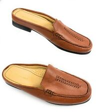 Rockport APW72349 Brown Leather Mules Slides Loafer Shoes Women's 8.5M