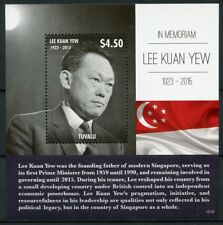 Tuvalu 2015 MNH Lee Kuan Yew in Memoriam Prime Minister Singapore 1v S/S Stamps