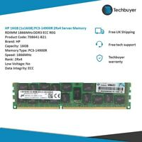 HP 16GB (1x16GB) PC3-14900R 2Rx4  RDIMM 1866MHz DDR3 ECC REG - 708641-B21