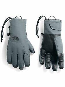 NORTH FACE Mens Gray Nylon Slip On Waterproof Gloves S