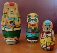 Bears Matryoshka nesting dolls, hiking, backpacking, Appalachian Trail Russian