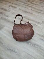 Brown  Leather Hobo Bag, Casual Fashion Bags, Handmade Handbags and Purse, Aida