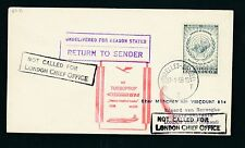 60458) LH FF München - London 1.2.59, Brief ab Belgien